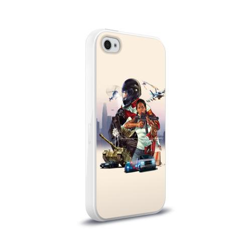 Чехол для Apple iPhone 4/4S силиконовый глянцевый  Фото 02, GTA 5