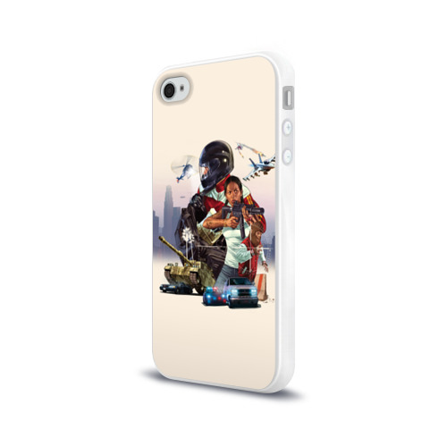 Чехол для Apple iPhone 4/4S силиконовый глянцевый  Фото 03, GTA 5