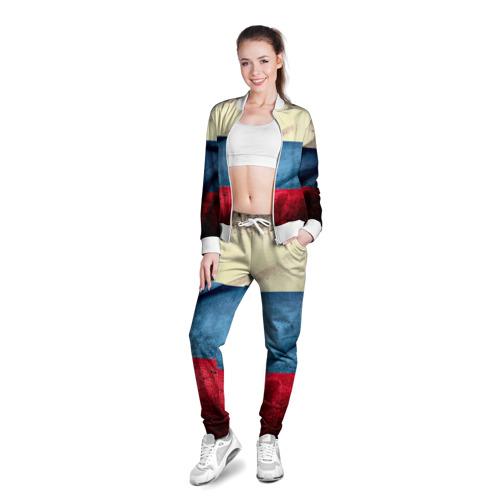 Женская олимпийка 3D  Фото 03, Триколор