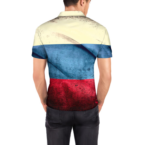 Мужская рубашка поло 3D  Фото 04, Триколор