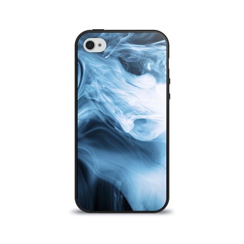 Чехол для Apple iPhone 4/4S силиконовый глянцевый Smoke от Всемайки