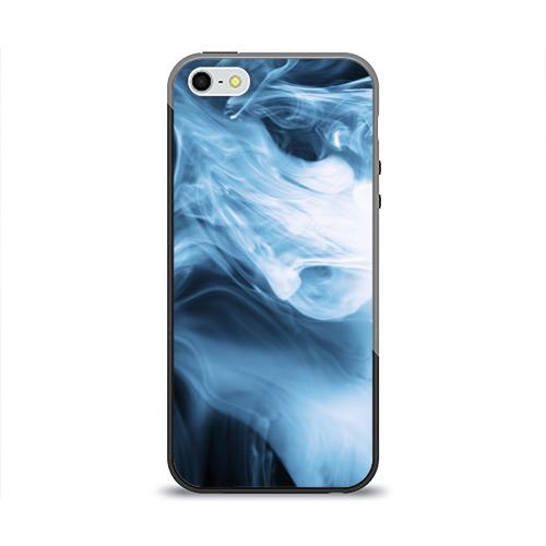 Чехол силиконовый глянцевый для Телефон Apple iPhone 5/5S Smoke от Всемайки