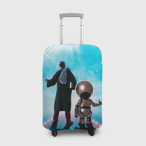 Чехол для чемодана 3D Автостопом по галактике Фото 01