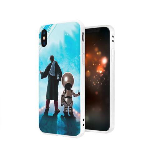 Чехол для Apple iPhone X силиконовый матовый Автостопом по галактике Фото 01