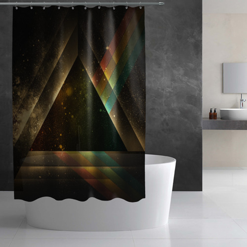 Штора 3D для ванной  Фото 02, Triangle