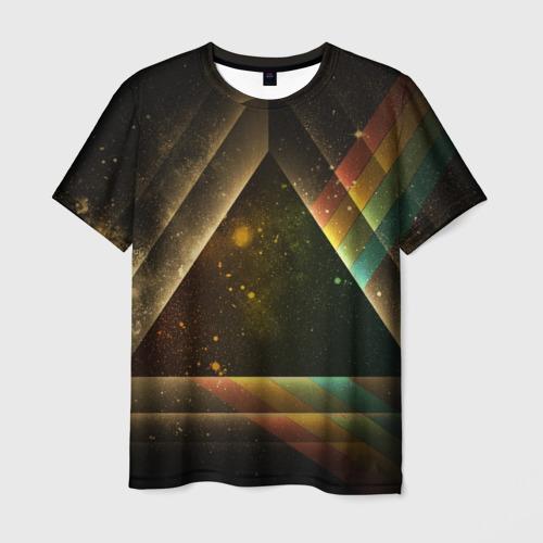 Мужская футболка 3D Triangle Фото 01