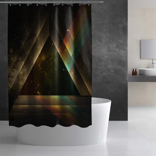 Штора 3D для ванной  Фото 03, Triangle
