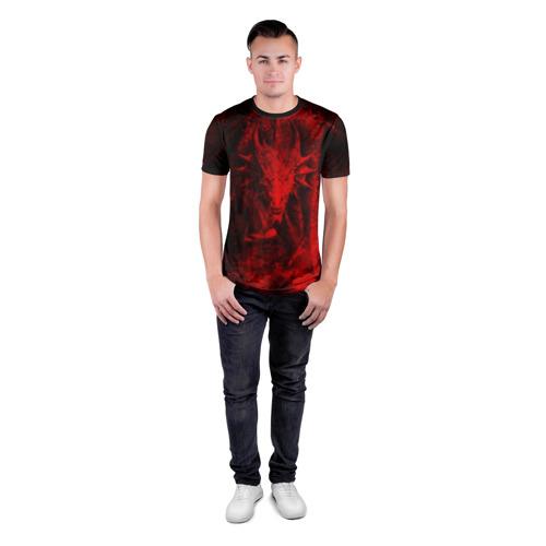 Мужская футболка 3D спортивная Дракон Фото 01