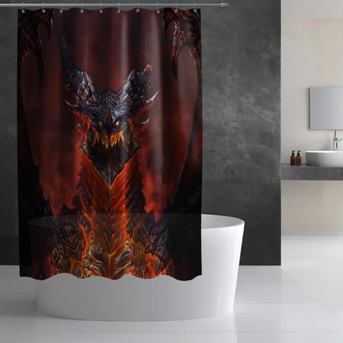 Штора 3D для ванной Dragon Фото 01