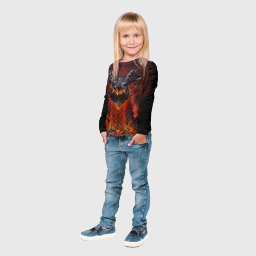 Детский лонгслив 3D  Фото 04, Dragon