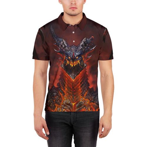 Мужская рубашка поло 3D Dragon Фото 01