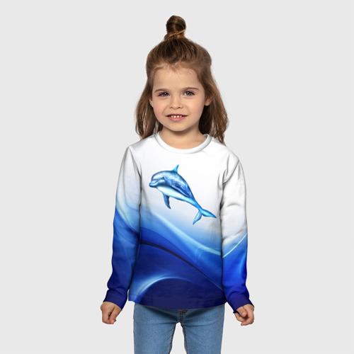 Детский лонгслив 3D Дельфин Фото 01