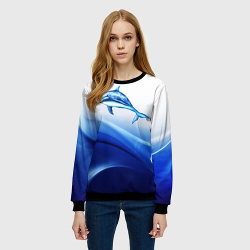Женский свитшот 3D Дельфин Фото 01