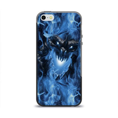 Чехол для Apple iPhone 5/5S силиконовый глянцевый Dragon Фото 01