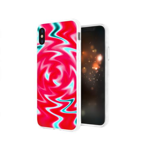 Чехол для Apple iPhone X силиконовый глянцевый  Фото 03, Разводы красок