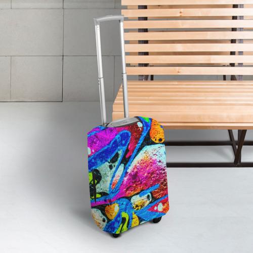 Чехол для чемодана 3D Граффити Фото 01