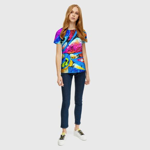Женская футболка 3D Граффити Фото 01