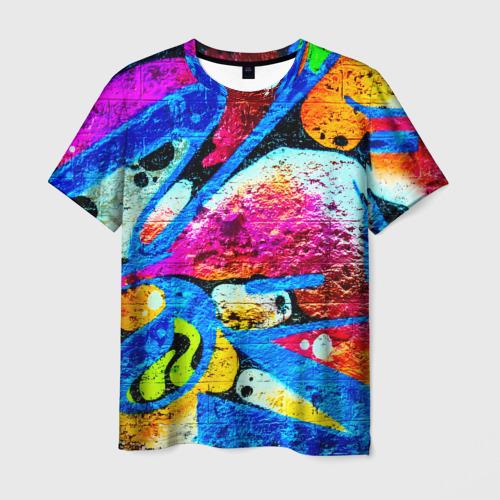Мужская футболка 3D Граффити Фото 01