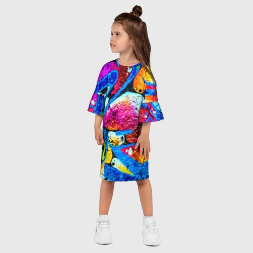 Детское платье 3D  Фото 03, Граффити