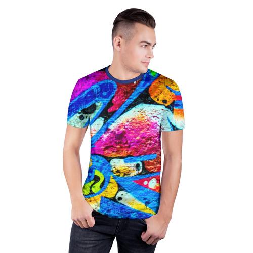 Мужская футболка 3D спортивная Граффити Фото 01