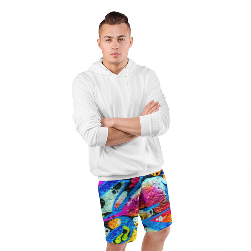 Мужские шорты 3D спортивные  Фото 05, Граффити