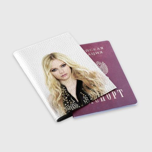 Обложка для паспорта матовая кожа  Фото 03, Аврил Лавин