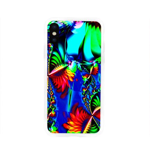 Чехол для Apple iPhone X силиконовый глянцевый  Фото 01, Абстракция