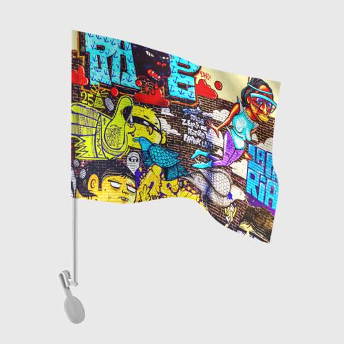 Флаг для автомобиля Граффити Фото 01