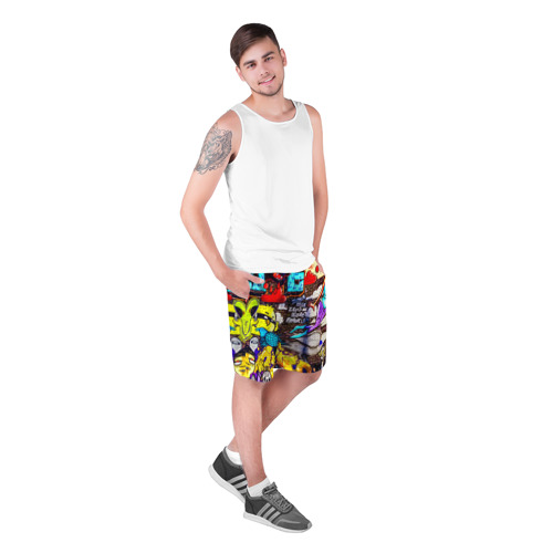 Мужские шорты 3D  Фото 03, Граффити