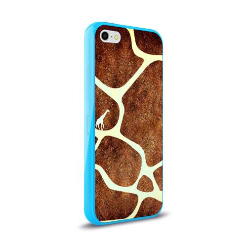 Чехол для Apple iPhone 5/5S силиконовый глянцевый Жирафик Фото 01