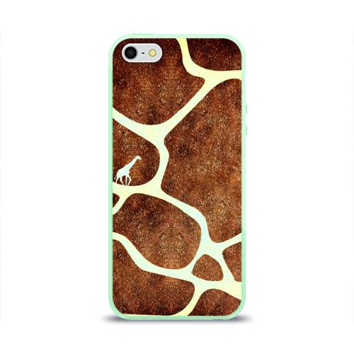 Чехол для iPhone 5/5S глянцевый Жирафик Фото 01