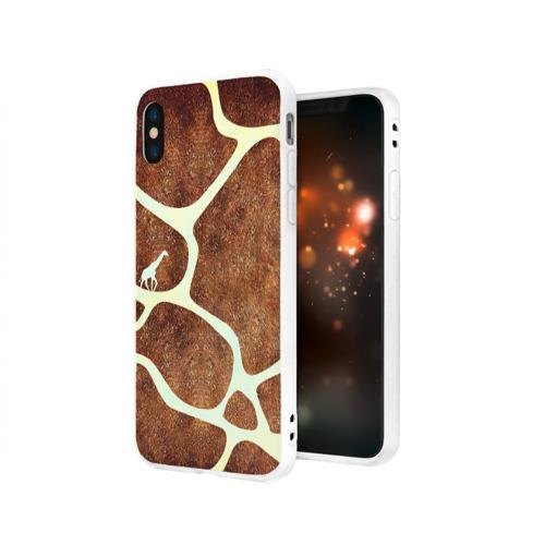 Чехол для Apple iPhone X силиконовый матовый Жирафик Фото 01