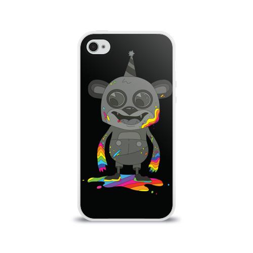 Чехол для Apple iPhone 4/4S силиконовый глянцевый Bear Фото 01