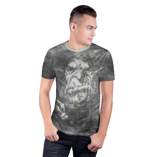 Мужская футболка 3D спортивная  Фото 03, Тролль