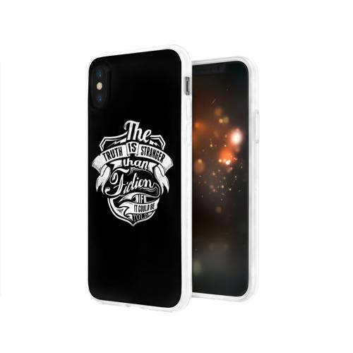Чехол для Apple iPhone X силиконовый глянцевый  Фото 03, The Truth Is Stranger