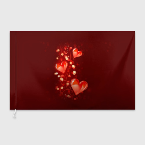 Флаг 3D  Фото 03, Сердца
