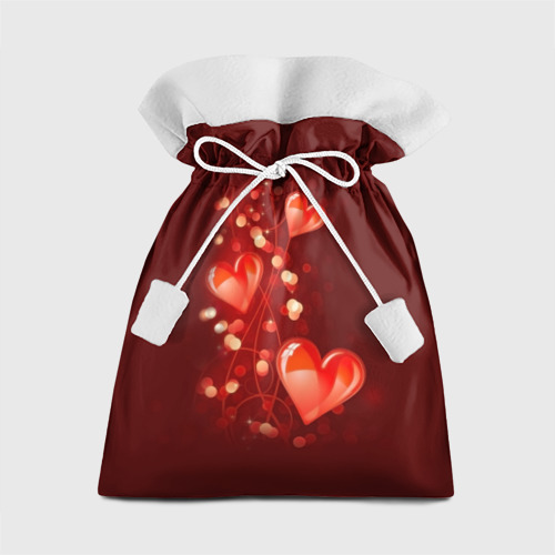 Подарочный 3D мешок  Фото 01, Сердца