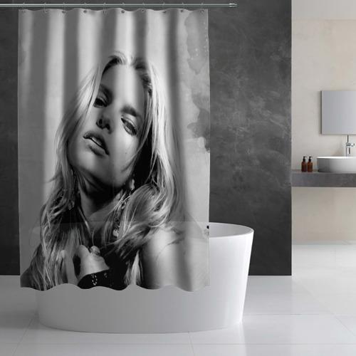 Штора 3D для ванной  Фото 02, Джессика Симпсон