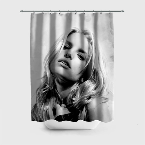 Штора 3D для ванной  Фото 01, Джессика Симпсон