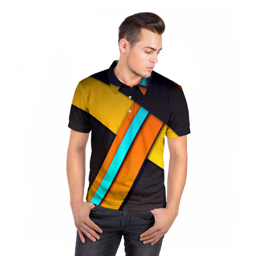 Мужская рубашка поло 3D  Фото 05, Geometrical
