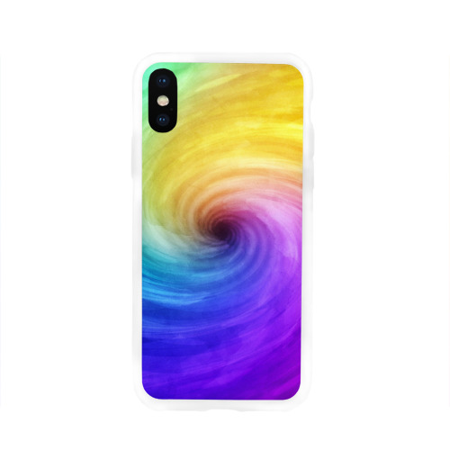 Чехол для Apple iPhone X силиконовый глянцевый  Фото 01, Смесь красок