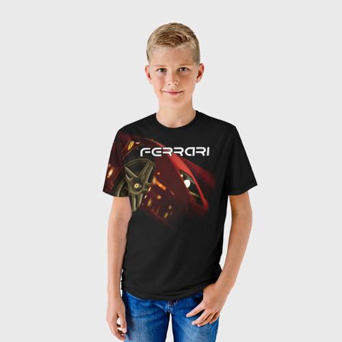 Детская футболка 3D  Фото 01, Ferrari