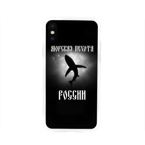 Чехол для Apple iPhone X силиконовый глянцевый  Фото 01, Морская пехота России