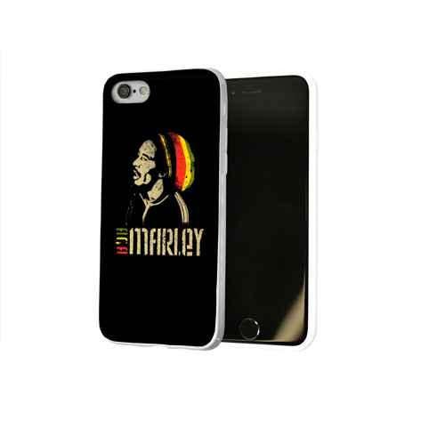 Чехол для Apple iPhone 8 силиконовый глянцевый  Фото 02, Bob Marley