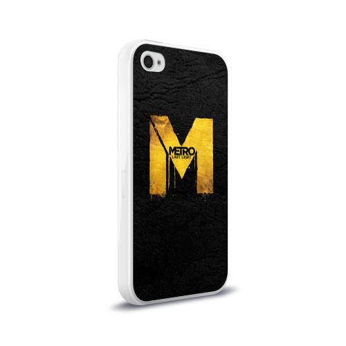 Чехол для Apple iPhone 4/4S силиконовый глянцевый Metro: Last Light Фото 01