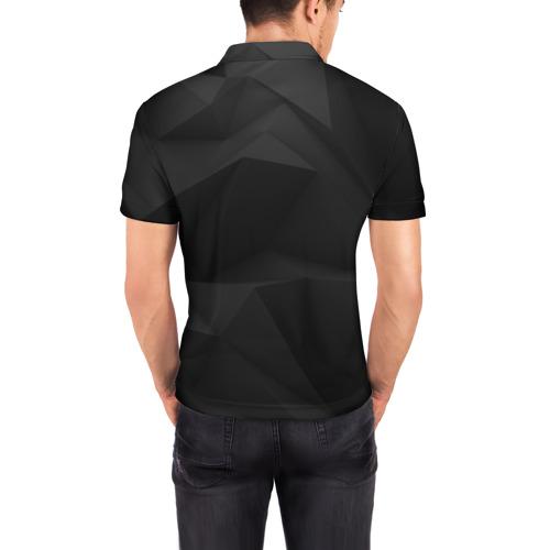 Мужская рубашка поло 3D Тишина Фото 01