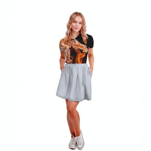 Женская рубашка поло 3D Вой Фото 01
