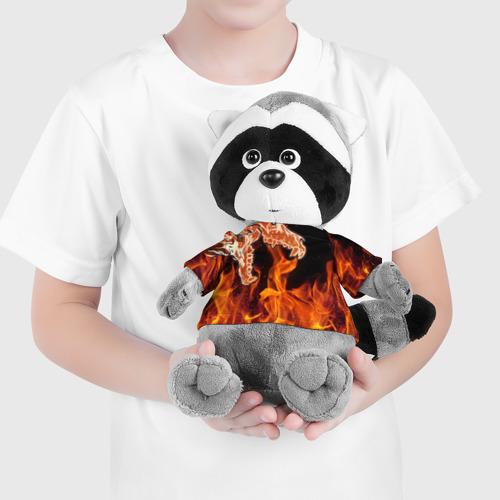 Енотик в футболке 3D Вой Фото 01