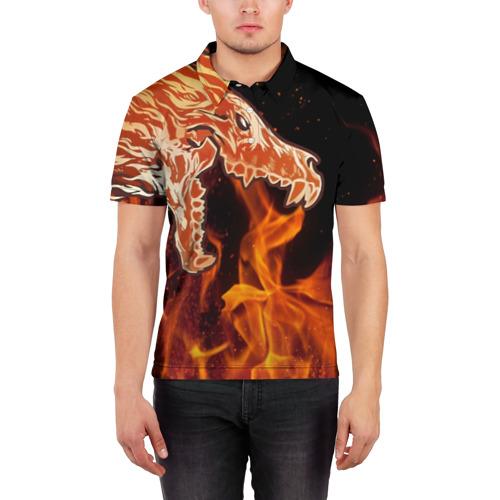 Мужская рубашка поло 3D Вой Фото 01