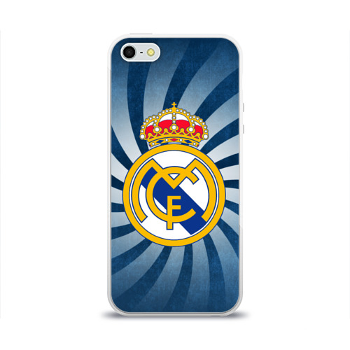 Чехол для Apple iPhone 5/5S силиконовый глянцевый  Фото 01, Реал Мадрид